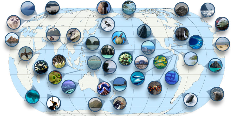 Marine World Heritage Sites Map