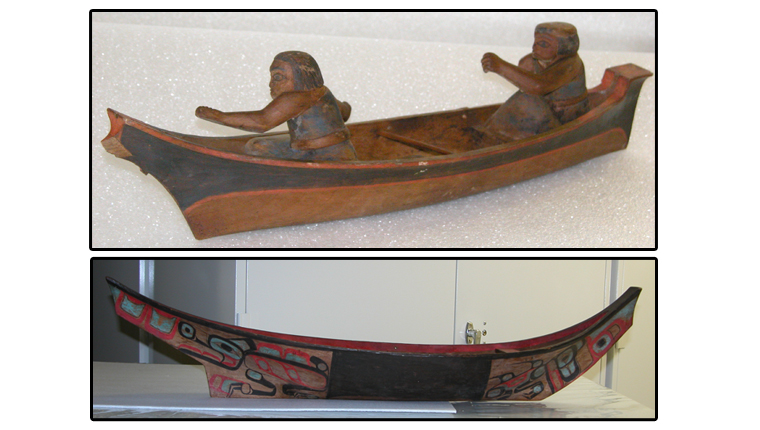 As these models show, traditional canoes came in a variety of shapes and designs.<div class='credit'><strong>Credit:</strong> As these models show, traditional canoes came in a variety of shapes and designs.</div>