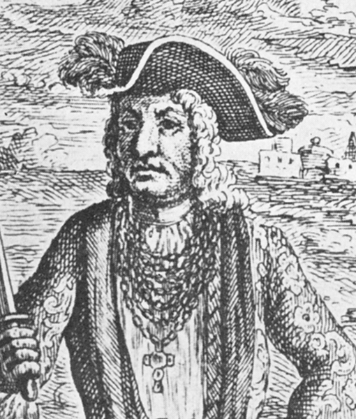 Pirate captain Bartholomew Roberts dressed in embroidered coats and hats with feathered plumes, like an elegant gentleman.<div class='credit'><strong>Credit:</strong> Pirate captain Bartholomew Roberts dressed in embroidered coats and hats with feathered plumes, like an elegant gentleman.</div>