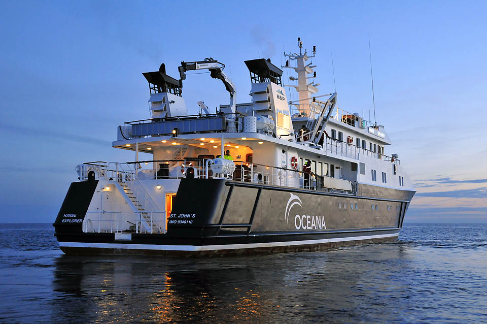 A photo of Oceana's ice class research vessel, the Hanse Explorer, on the Baltic Sea. <div class='credit'><strong>Credit:</strong> A photo of Oceana's ice class research vessel, the Hanse Explorer, on the Baltic Sea. </div>