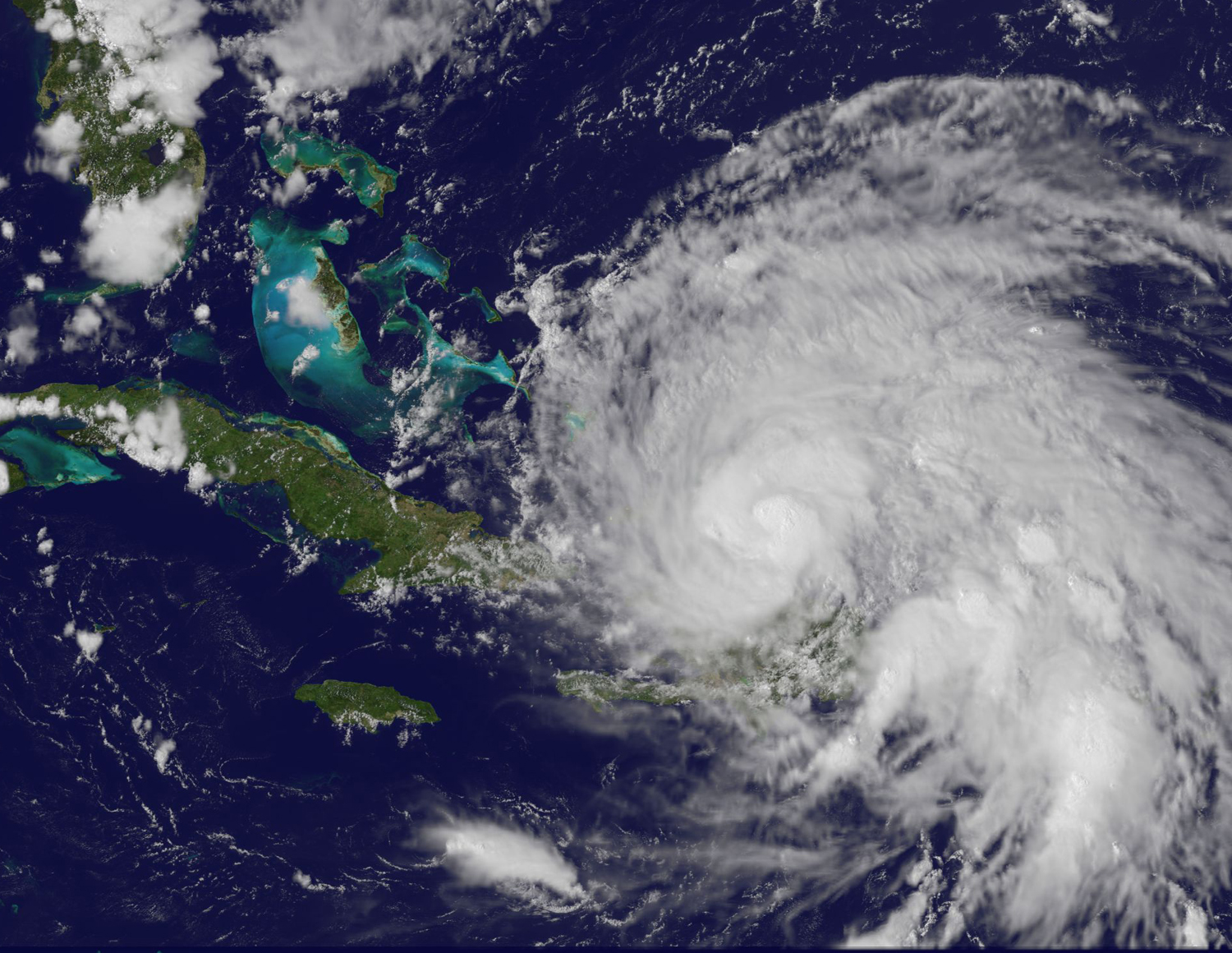 A NASA satellite image from August 23, 2011 of Hurricane Irene, the Atlantic basin's first hurricane of 2011. <div class='credit'><strong>Credit:</strong> A NASA satellite image from August 23, 2011 of Hurricane Irene, the Atlantic basin's first hurricane of 2011. </div>