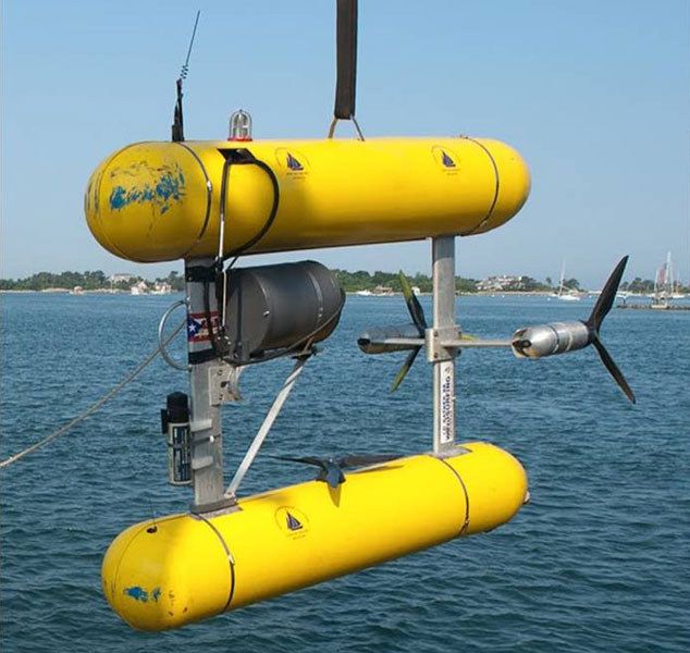 The Autonomous Underwater Vehicle (AUV) SeaBed is about to be deployed.<div class='credit'><strong>Credit:</strong> The Autonomous Underwater Vehicle (AUV) SeaBed is about to be deployed.</div>