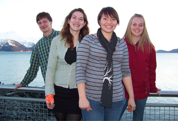 Students studying climate change pose near the ocean.<div class='credit'><strong>Credit:</strong> Students studying climate change pose near the ocean.</div>