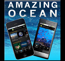 Screen capture of the Amazing Ocean mobile app introduction screen<div class='credit'><strong>Credit:</strong> Screen capture of the Amazing Ocean mobile app introduction screen</div>