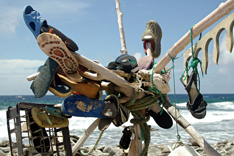 Trash Sculpture on the Beach in Bonaire<div class='credit'><strong>Credit:</strong> Trash Sculpture on the Beach in Bonaire</div>