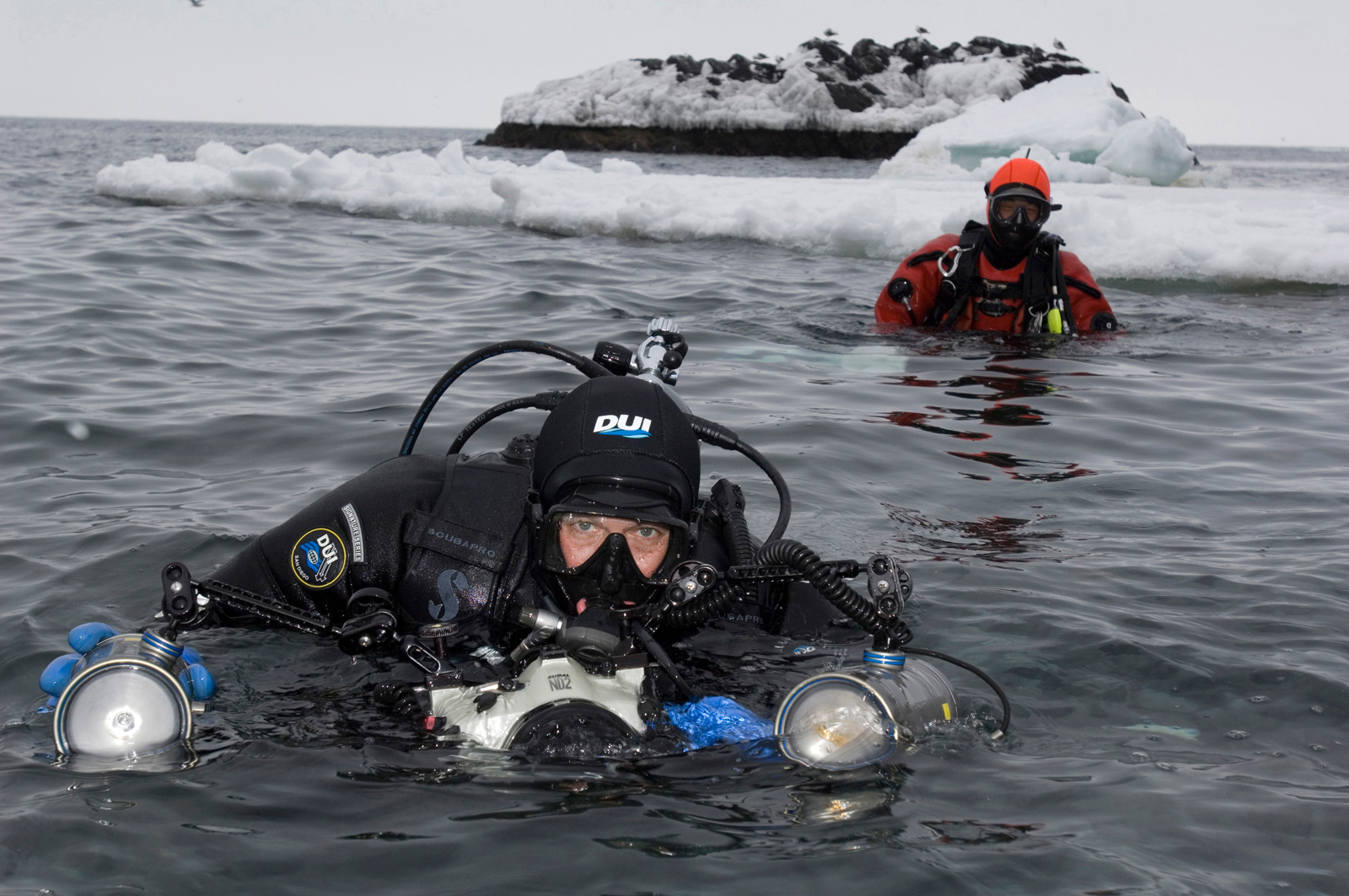Brian Skerry prepares to dive in icy waters. <div class='credit'><strong>Credit:</strong> Brian Skerry prepares to dive in icy waters. </div>