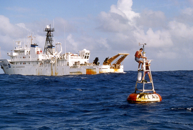 One ocean. More than 100 moored buoys gather data on the single, contiguous, body of water that encircles the globe.<div class='credit'><strong>Credit:</strong> One ocean. More than 100 moored buoys gather data on the single, contiguous, body of water that encircles the globe.</div>