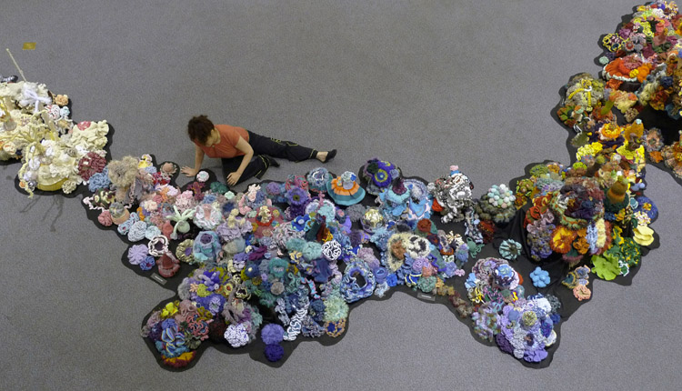 The People's Reef--Part of the Hyperbolic Crochet Coral Reef<div class='credit'><strong>Credit:</strong> The People's Reef--Part of the Hyperbolic Crochet Coral Reef</div>