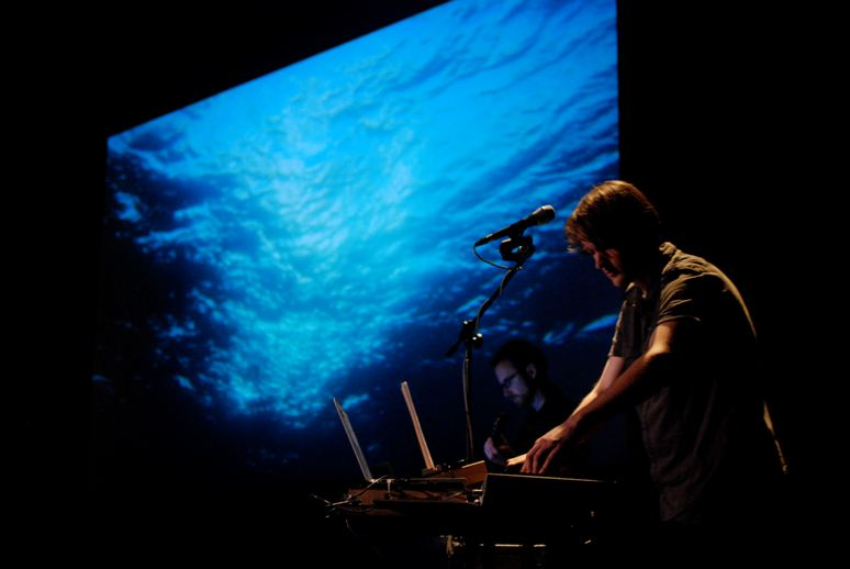 Sound artist Halsey Burgund performs his composition Ocean Voices. <div class='credit'><strong>Credit:</strong> Sound artist Halsey Burgund performs his composition Ocean Voices. </div>