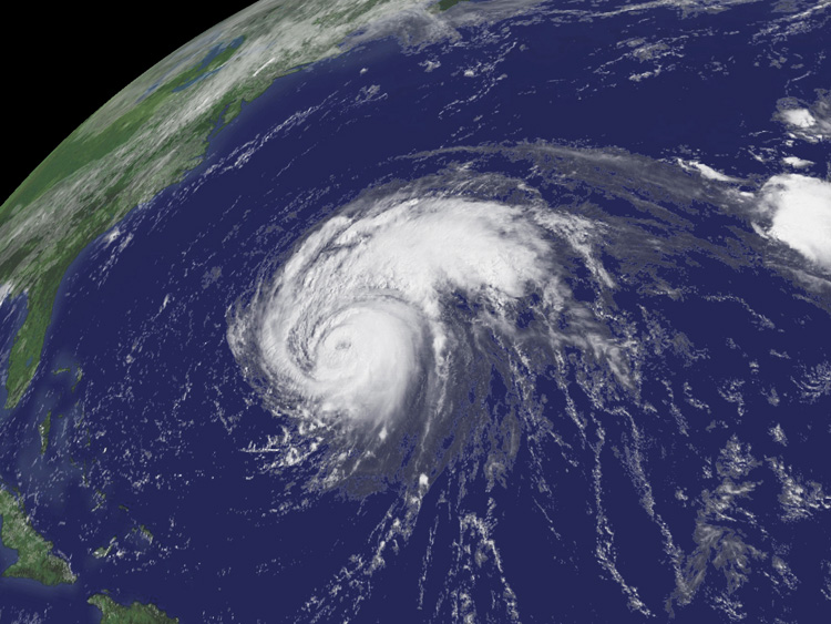 Aerial image of Hurricane Bill<div class='credit'><strong>Credit:</strong> Aerial image of Hurricane Bill</div>