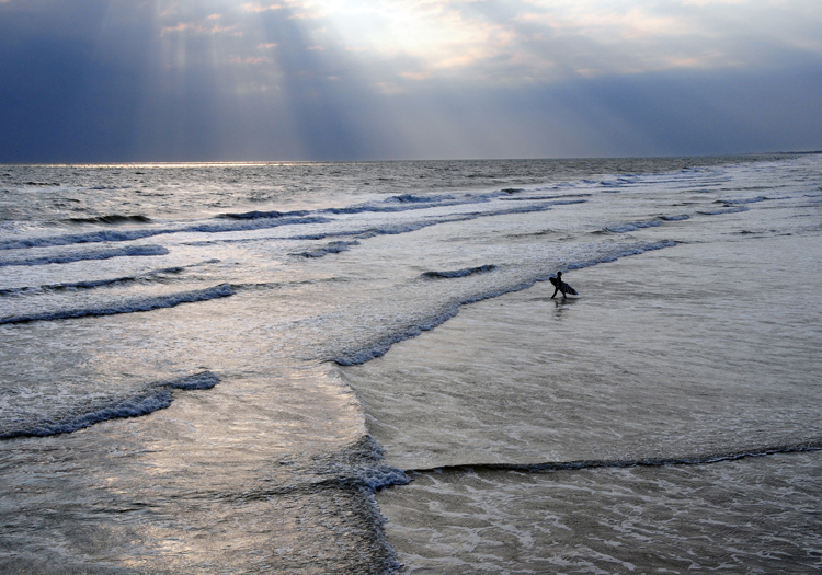Surfer at Bogue Banks, North Carolina, USA <div class='credit'><strong>Credit:</strong> Surfer at Bogue Banks, North Carolina, USA </div>