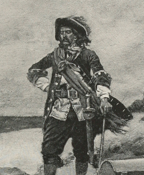 Captain William Kidd at Gardiner's Island<div class='credit'><strong>Credit:</strong> Captain William Kidd at Gardiner's Island</div>
