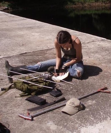 Shabnam Mohammadi working on radio telemetry of snakes in Thailand, 2007<div class='credit'><strong>Credit:</strong> Shabnam Mohammadi working on radio telemetry of snakes in Thailand, 2007</div>