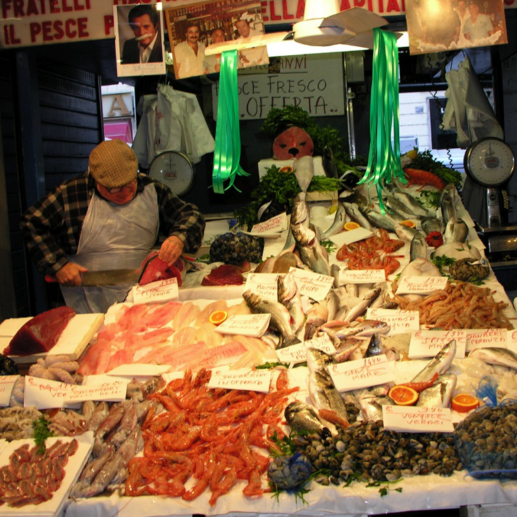 Neighborhood Seafood Market in Rome, Italy<div class='credit'><strong>Credit:</strong> Neighborhood Seafood Market in Rome, Italy</div>