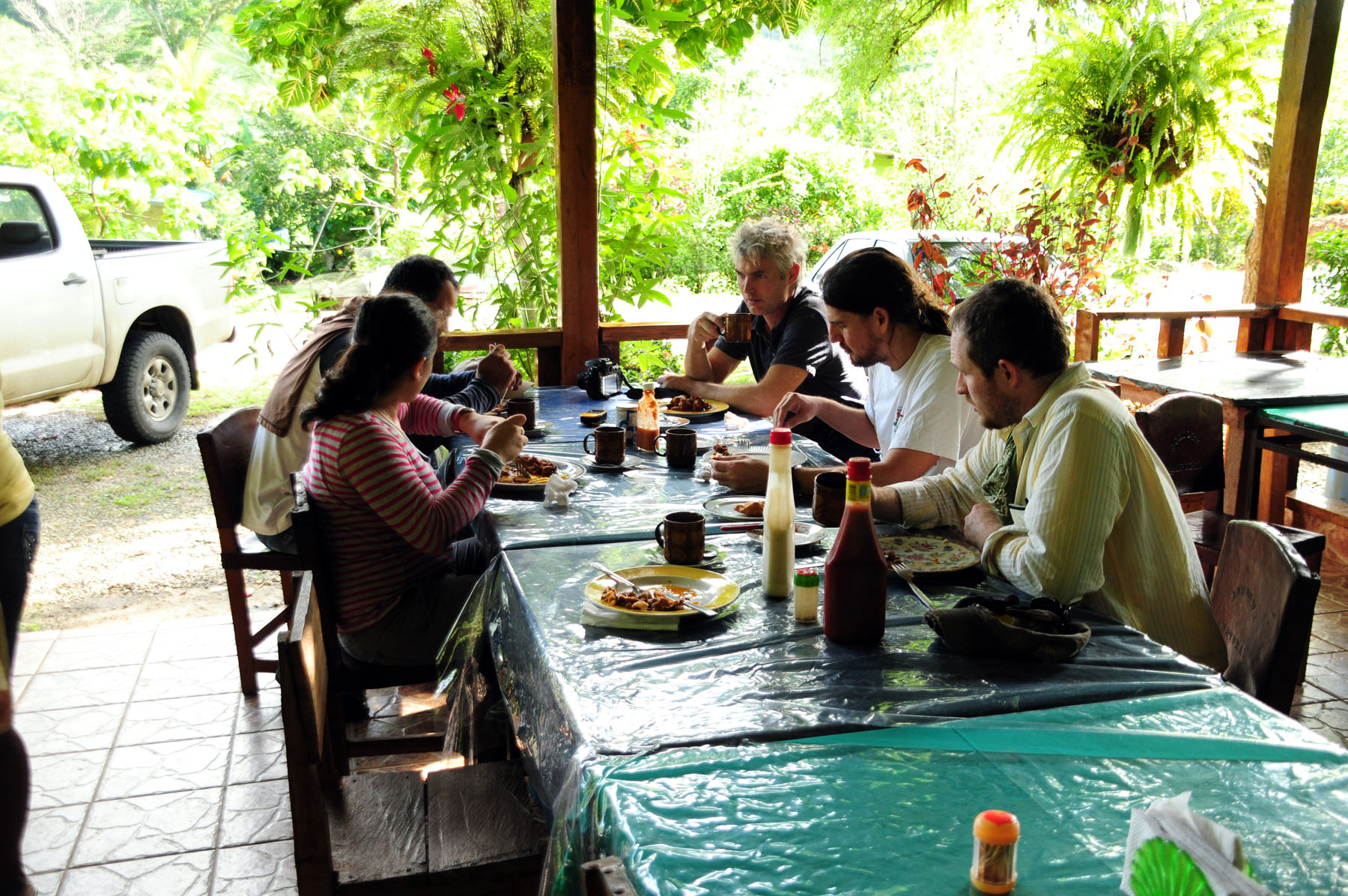 Smithsonian researchers eat a meal in preparation for a fossil excavation<div class='credit'><strong>Credit:</strong> Smithsonian researchers eat a meal in preparation for a fossil excavation</div>