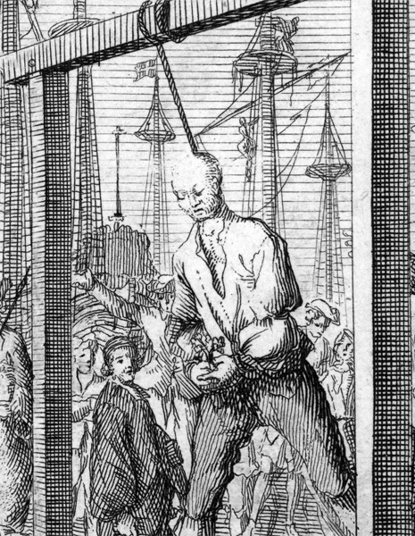 Stede Bonnet at his hanging in Charleston, North Carolina<div class='credit'><strong>Credit:</strong> Stede Bonnet at his hanging in Charleston, North Carolina</div>