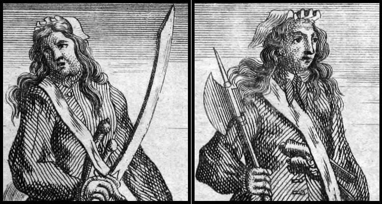 Pirates Ann Bonny and Mary Read shown in men's clothes<div class='credit'><strong>Credit:</strong> Pirates Ann Bonny and Mary Read shown in men's clothes</div>