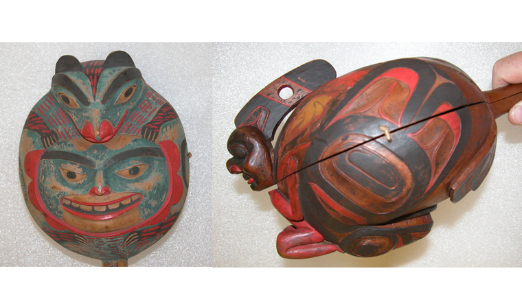These rattles from British Columbia were used during shamanistic performances.<div class='credit'><strong>Credit:</strong> These rattles from British Columbia were used during shamanistic performances.</div>