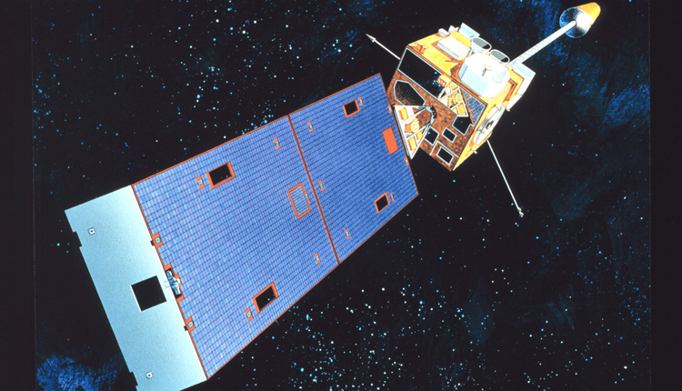 A Coral Reef Watch satellite monitors the temperature of the world's oceans.<div class='credit'><strong>Credit:</strong> A Coral Reef Watch satellite monitors the temperature of the world's oceans.</div>