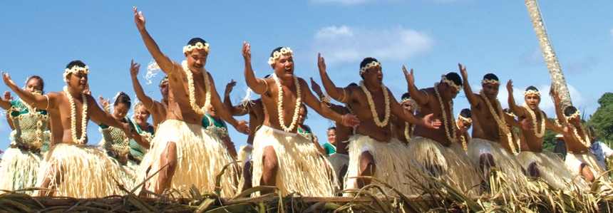 A large group of dancers from the island of Tokelau dance during fiafia, evening entertainment) <div class='credit'><strong>Credit:</strong> A large group of dancers from the island of Tokelau dance during fiafia, evening entertainment) </div>