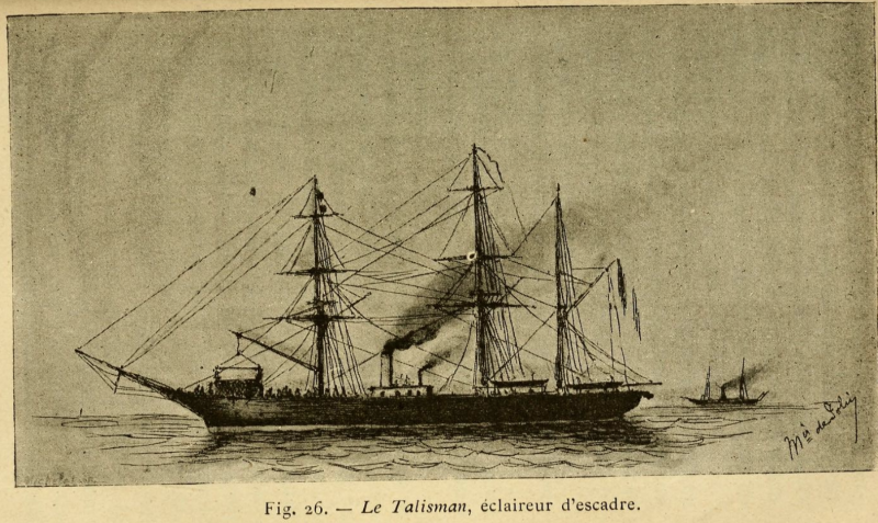 a drawing of the Talisman ship