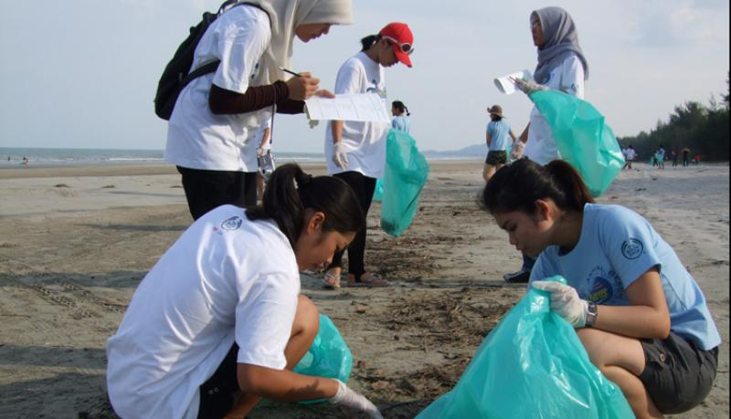 A beach clean-up in Malaysia brings young people together to care for their coastline.