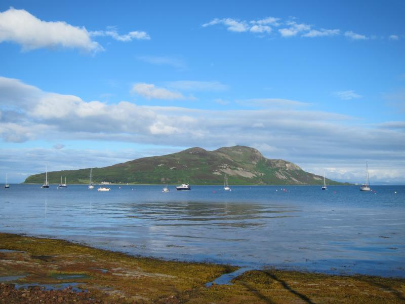 Lamlash Bay marine reserve with Holy Island in the background.