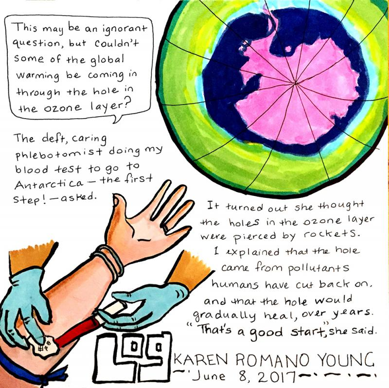 Karen Romano Young's first #AntarcticLog