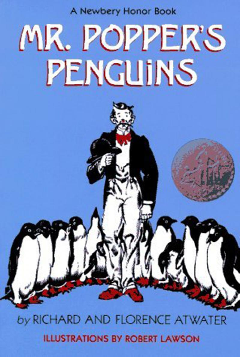 The cover of Mr. Popper's Penguins