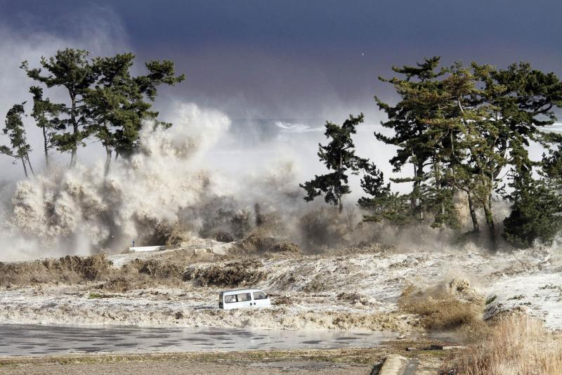 A tsunami is a set of waves created by a disturbance, likely an earthquake, which reaches the surface of the sea.