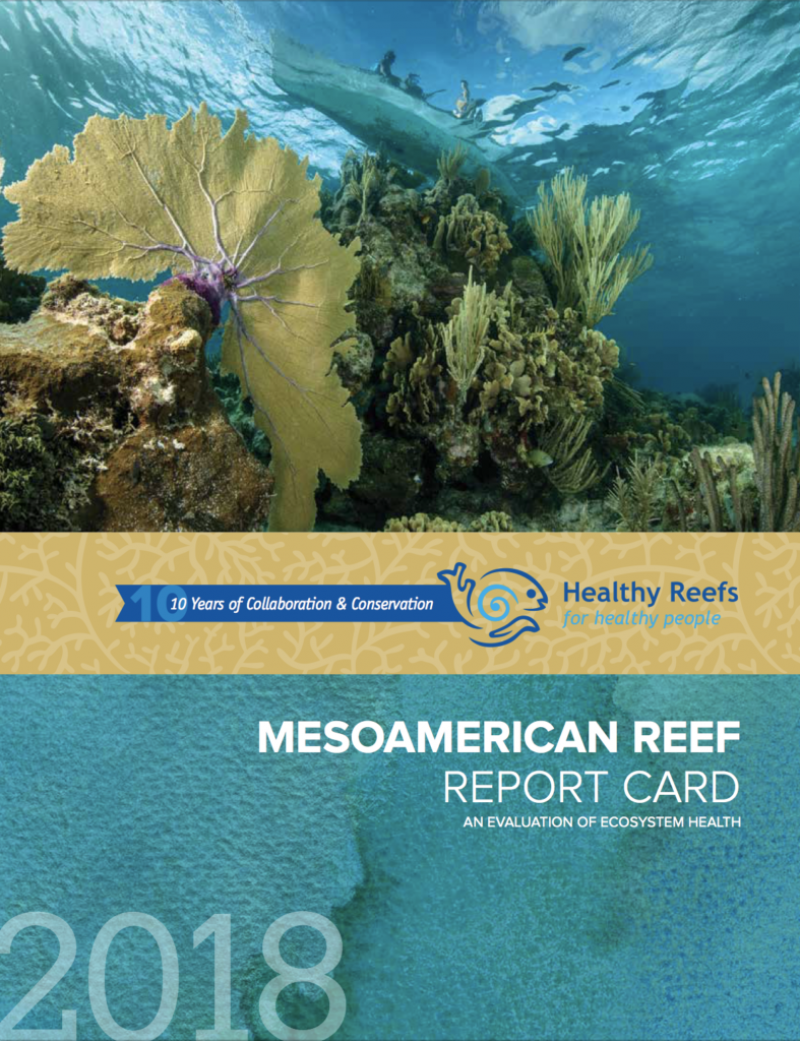Cover of 2018 Mesoamerican Reef Report Card