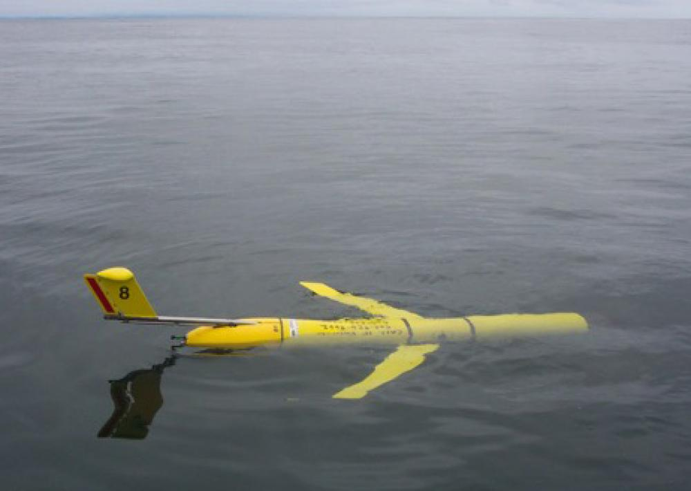 One of ten robots that examined an area of 800 cubic kilometers in northern Monterey Bay, over the course of 24 days, in 2006.