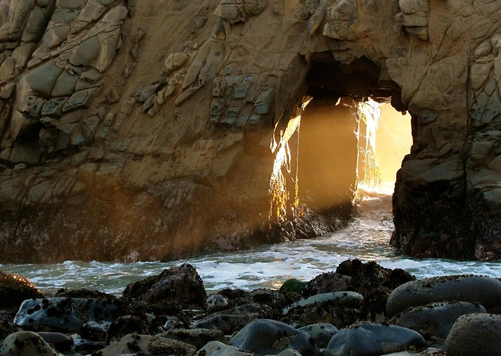 """Break On Through"" was taken by Wendy Wolf at California's Pfeiffer Beach. This photo was a winning selection in the Portraits of Planet Ocean Flickr contest."