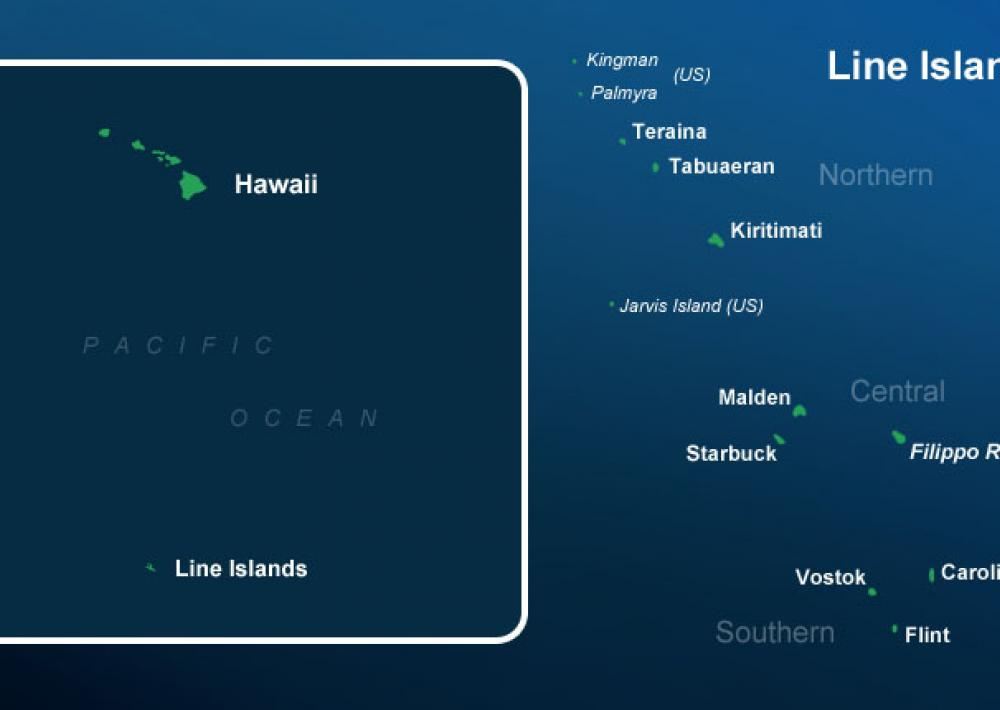 The Line Islands are one of the most remote places in the Pacific Ocean.
