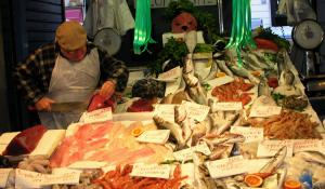 Neighborhood Seafood Market in Rome, Italy