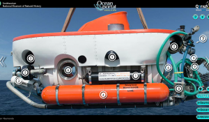 You can explore the Curasub from your computer! Inspect, launch, board and recover to get an idea of what it's like to mann an underwater submersible.