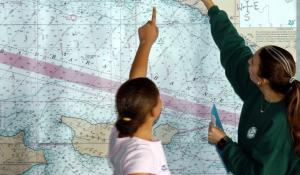 Students Work on Channel Island Map Project
