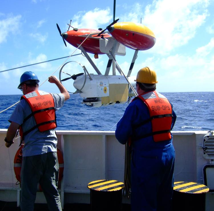 This autonomous operated vehicle will map areas of seafloor earthquakes.