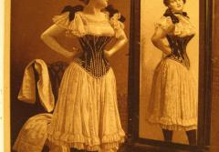 In the 19th century, many women wore tight corsets that were stiffened with stays made from baleen.