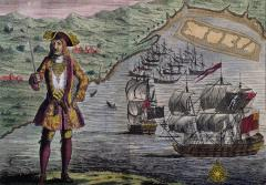 Pirate captain Bartholomew Roberts in his finery.