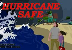 An illustration of hurricane storm surge