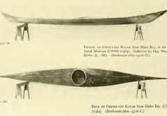 a profile and top down view of a kayak
