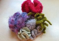 Crocheted corals from the Smithsonian Community Reef group on Flickr.