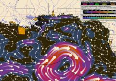 Hurricane Wind Pattern in Gulf of Mexico