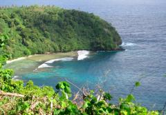 The coastline of American Samoa National Marine Sanctuary