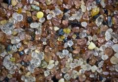 grains of sand collected from Orient Point, Long Island, NY