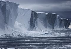 Antarctica is almost entirely covered by ice sheets up to two miles (3 km) thick, which contain roughly 70% of the world's freshwater.