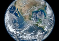 'Blue Marble' satellite image of the Earth