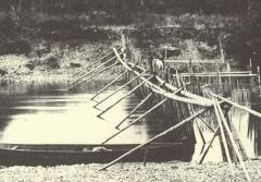 Fish spears and traps placed in rivers are traditional ways of catching salmon.