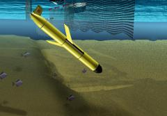 Illustration of Robotic Glider Evading Fishing Nets